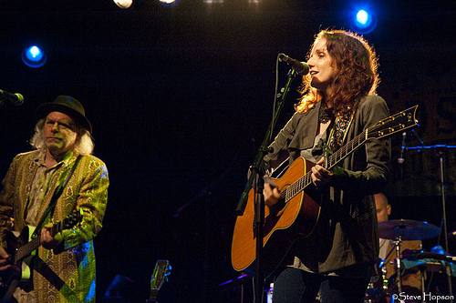 Patty Griffin and Buddy Miller at Old Settler's 2010, photo be Steve Hopson
