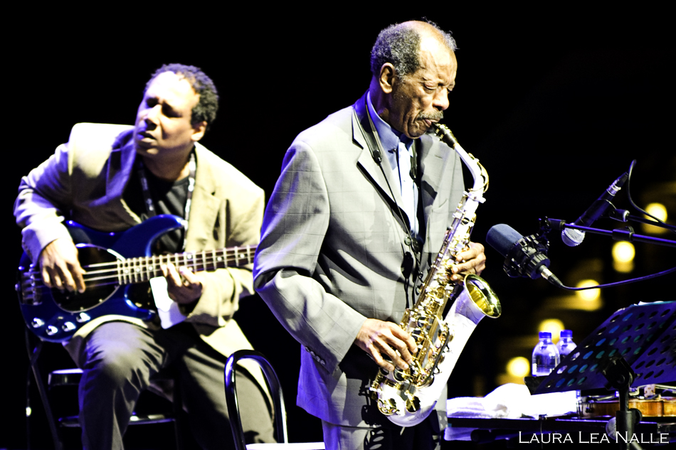 Ornette Coleman quintet in Rome, 2009 photo by Laura Lea Nalle
