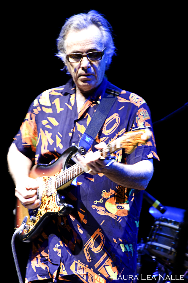 Ry Cooder performs with Nick Lowe at the Parque del Auditorium in Rome, Italy 2009 photo by Laura Lea Nalle