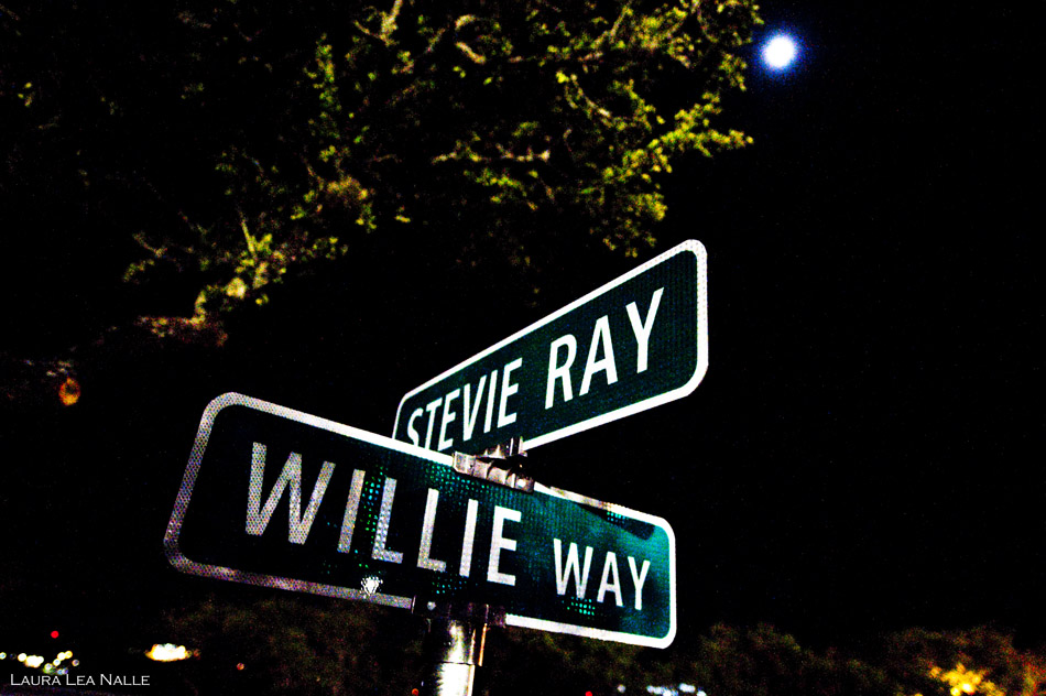 The Backyard, intersection of Stevie Ray and Willie Way